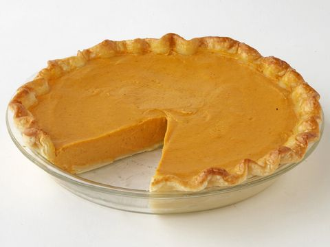 Paula Deen's Pumpkin Pie - great recipe! Make day before Thanksgiving. I bake it a little over 50 min and it needs to be put in the fridge afterwards to help it set. Lots of batter- makes 2 pies.