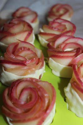 Przepisy Kulinarne: Róże z jabłek i ciasta francuskiego