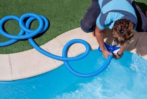 How A Garden Hose Pool Vacuum Works Swimming Pools Pool Kiddie Pool