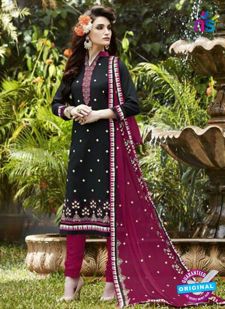 SC 13472 Blue and Pink Cambric Cotton Designer Fancy Suit