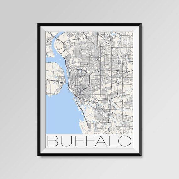 Buffalo map, Buffalo print, Buffalo poster, Buffalo map art, Buffalo city maps  More styles - Buffalo - maps on the link below https://www.etsy.com/shop/PFposters?search_query=Buffalo