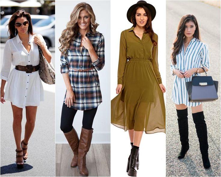 Модные женские платья-рубашки на 2017 года.