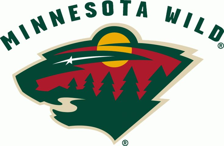 Minnesota Wild Primary Logo (2001) - The head of a black bear created using Minnesota-area scenery, green pine trees, a wheat coloured river...