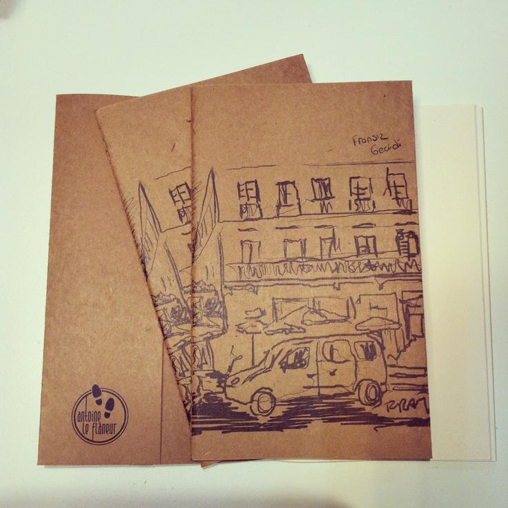Antoine le Flâneur sketchbooks sold at lab::istanbul designshop, karaköy...