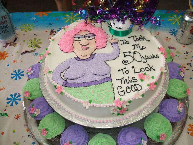 50th Birthday Cake - Aunty Acid