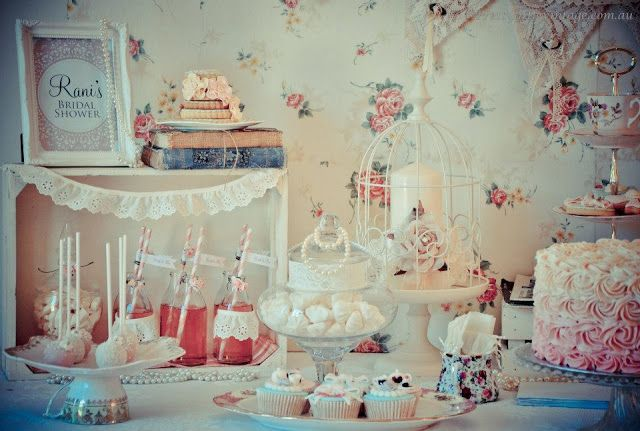 1950s Vintage Rose Bridal High Tea