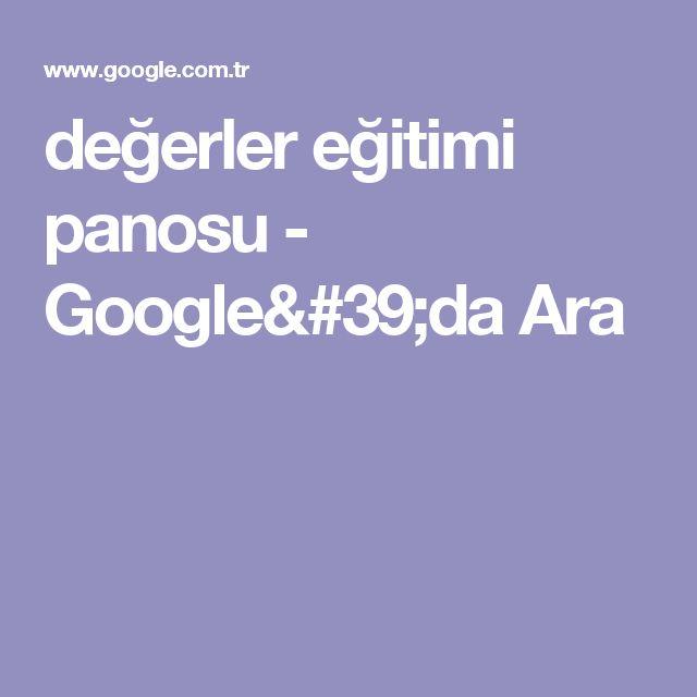 değerler eğitimi panosu - Google'da Ara