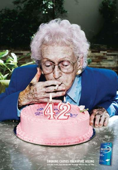 Nicotinell: Smoking causes Premature Aging - To all my smoking friends......