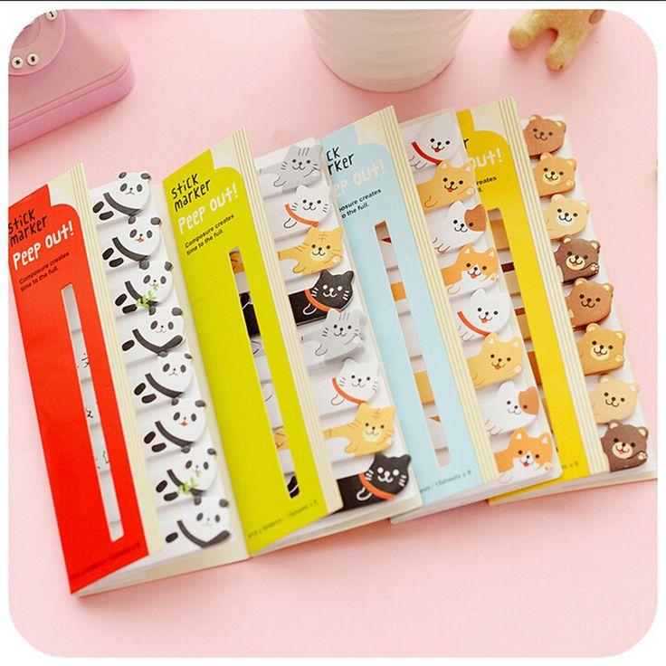 Animais bonitos dos desenhos animados Sticky Notes Pad Memo Notebook Notepad marcador adesivos Escola escritório produtos de papelaria em Almofadas de memorando de Office & School Suprimentos no AliExpress.com | Alibaba Group