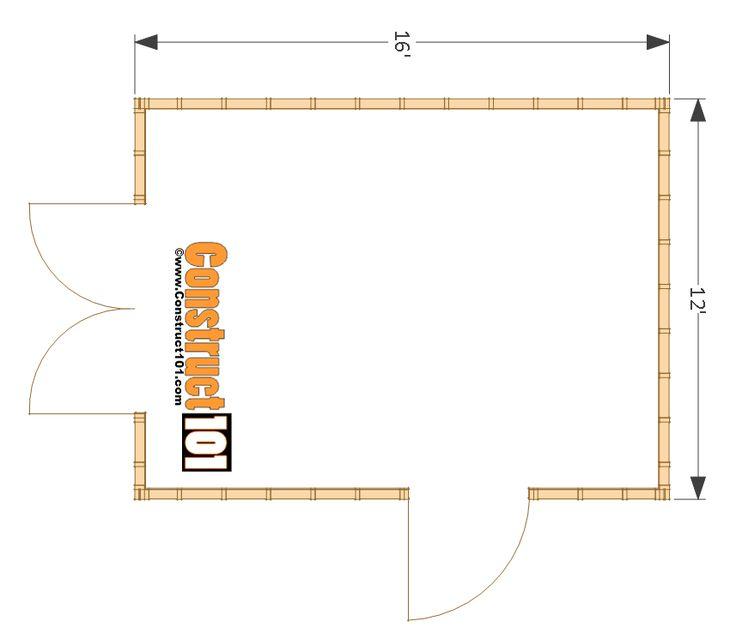 20 best gazebo images on pinterest cabana decks and gazebo for 12x16 kitchen plans