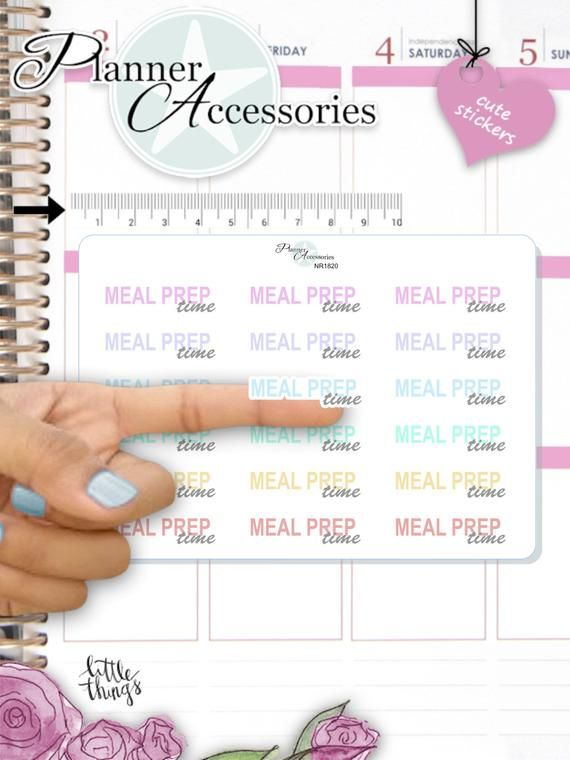 Meal Prep Text Planner Sticker – Bujo Sticker – fits Erin Condren and My Happy Planner 1820