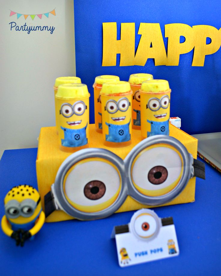 Des idées de déco, gâteau, desserts pour organiser un anniversaire minions