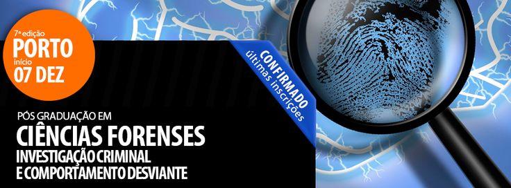 Confirmado - Últimas Inscrições | Pós-Graduação em Ciências Forenses, Investigação Criminal e Comportamento Desviante   7ª Edição PORTO | 07 de Dezembro de 2013 Coordenação Científica: Professor Doutor J. Pinto da Costa  Mais info: http://www.institutocriap.com/ensino/posgraduacoes/porto/748-pos-graduacao-em-ciencias-forenses-investigacao-criminal-e-comportamento-desviante-7o-edicao