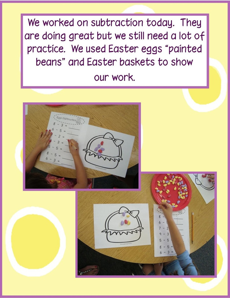 142 best themes schemes easter eggs bunnies images on golden gang kindergarten the big bunny freebies love the easter egg subtraction activity idea negle Image collections