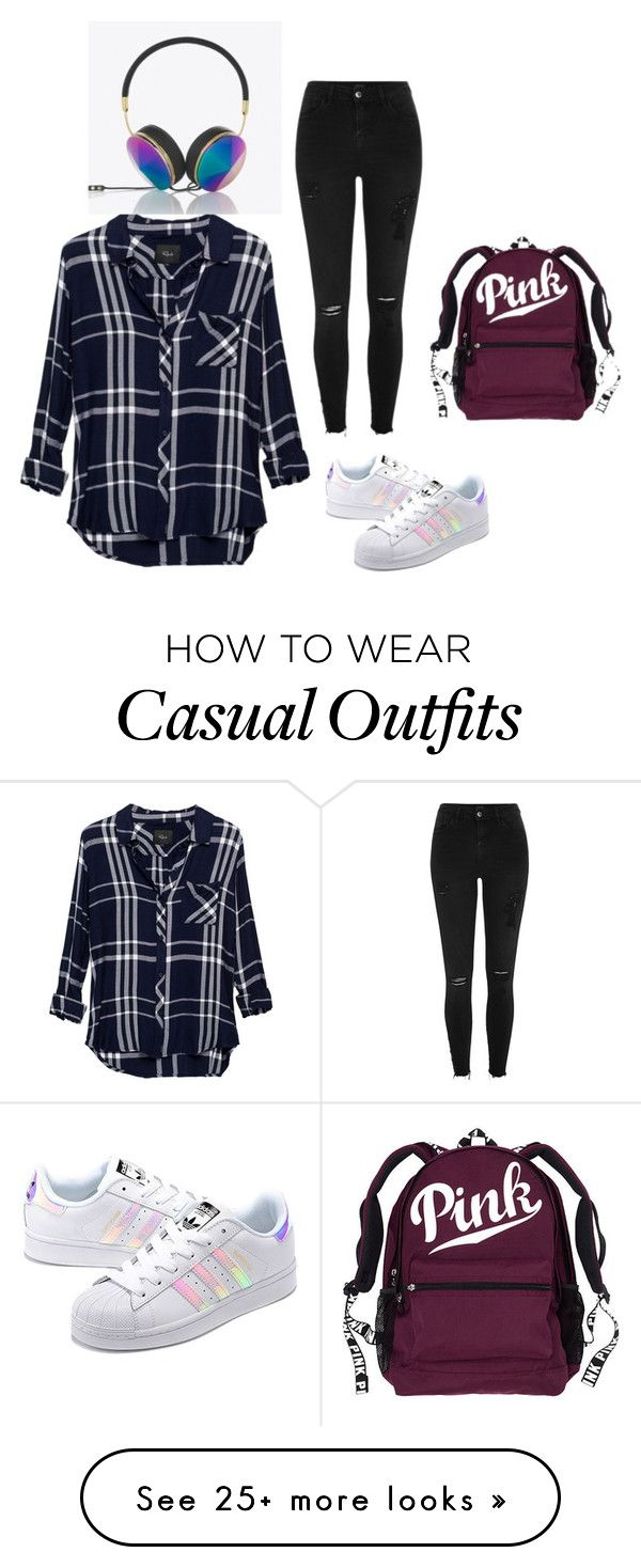 """Casual outfit"" by ambermoniz45 on Polyvore featuring adidas Originals, Rails, River Island and Frends"