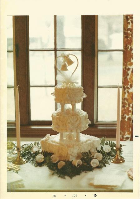 Wedding cake.   October 24, 1970.