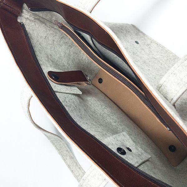 shoulder bag - ANNA - white melange 3