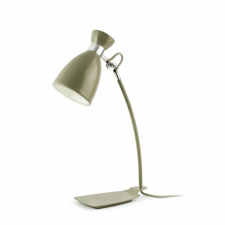 Lámpara de mesa Verde oliva tipo estudio retro #decoracion #iluminacion #interiorismo #diseño #lamparas #lamparasmesa #lamparasbonitas