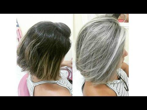 Diy Cabello Gris Sin Tinte How To Get Grey Hair Tutorial