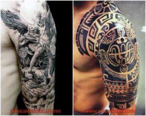 Tatuajes media manga - Ideas para tatuajes de Hombre.  #ideasparatattoo #tattoo media manga ideas