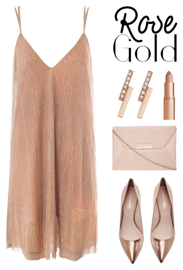 """So Pretty: Rose Gold Jewelry"" by lgb321 on Polyvore featuring Nicholas Kirkwood, Sans Souci, Dorothy Perkins, Zoë Chicco, Charlotte Tilbury and rosegold"