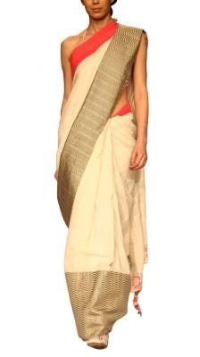 Off-white Khadi Saree