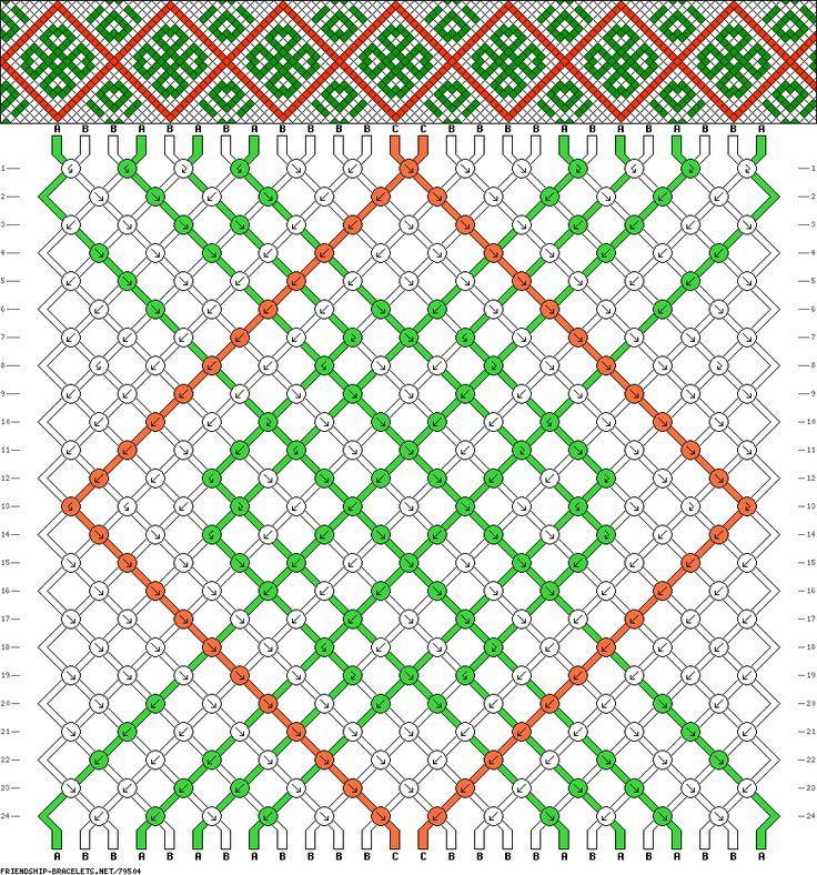 celtic knot friendship bracelet pattern (plus a great site for ideas and patterns)