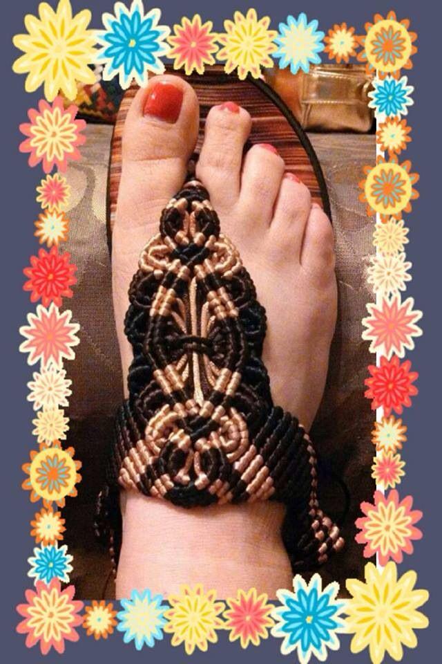 Sandalias artesanales de macrame