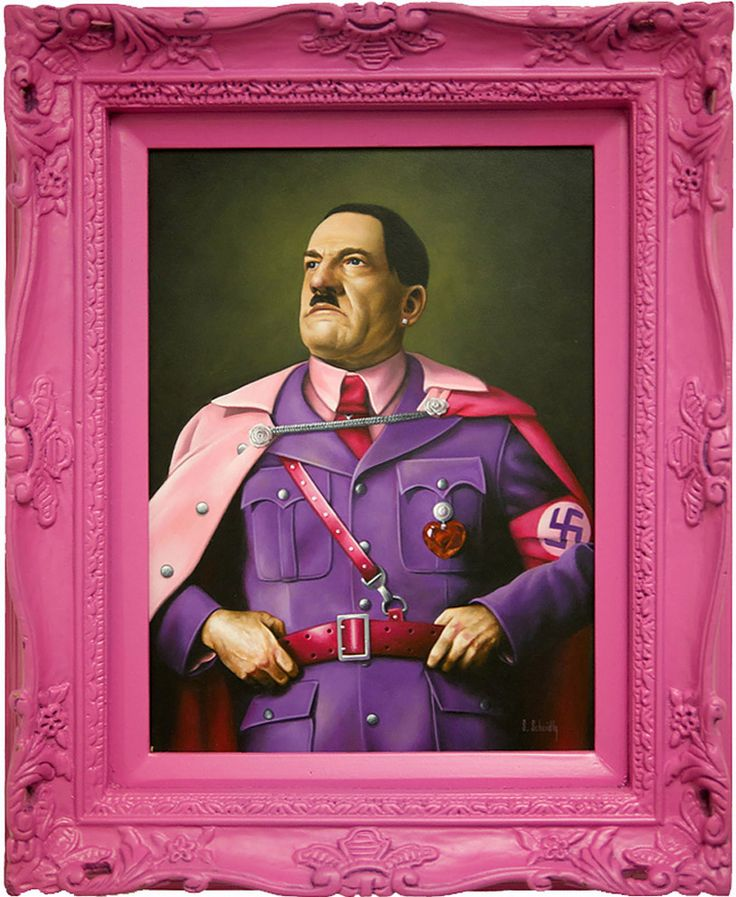 fabulous depictions of tyrants, dictators and popes by scott scheidly: Hitler, L'Wren Scott, Illustration, Pink, Artist, Portraits, Design