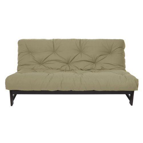 Mozaic 8-Inch Dual Memory Foam Futon Mattress, Queen, Khaki by Mozaic. $258.80. Made of cotton and foam; Futon frame not included. Queen Size Mattress. Made in the USA. Care Instructions: Spot clean with cold water and mild detergent; Reversible for extended wear. Futon mattress ships vacuum packed; allow several days for mattress to expand to its complete size. This dual memory futon mattress features two one-inch layers of visco memory foam with cotton-wrapped foam ...