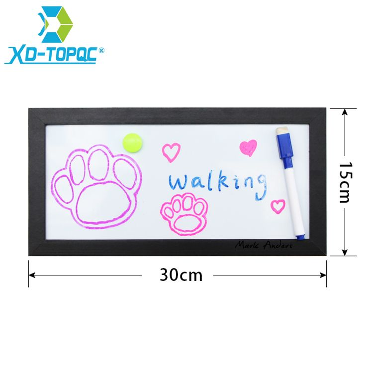 XINDI New 15x30 cm MDF Frame Small Magnetic Whiteboard Home Decorative Memo Message Erasable Whiteboard Free Shipping WB20