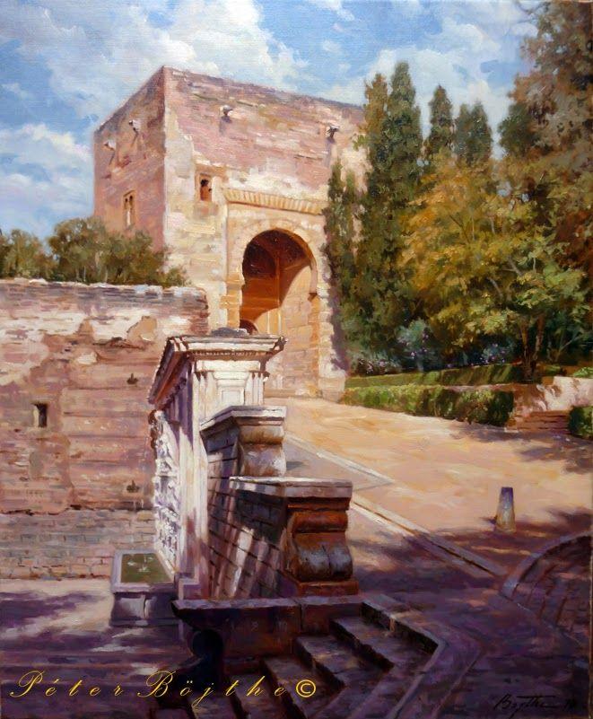 Título: Puerta de la Justicia - Alhambra (Granada).   Técnica: Óleo sobre lienzo.   Tamaño: 73x60 cm.   Precio: Vendido.