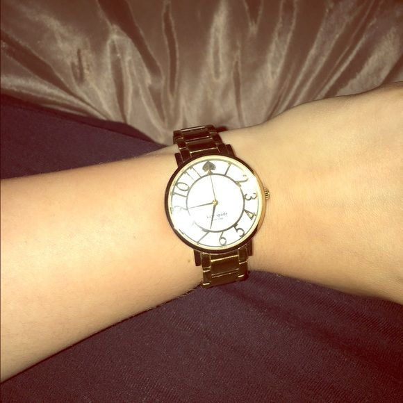 Kate spade gold watch Gold authentic Kate spade watch, I do have the extra links, I think this price is fair and don't appreciate low ballers  thank you! kate spade Accessories Watches