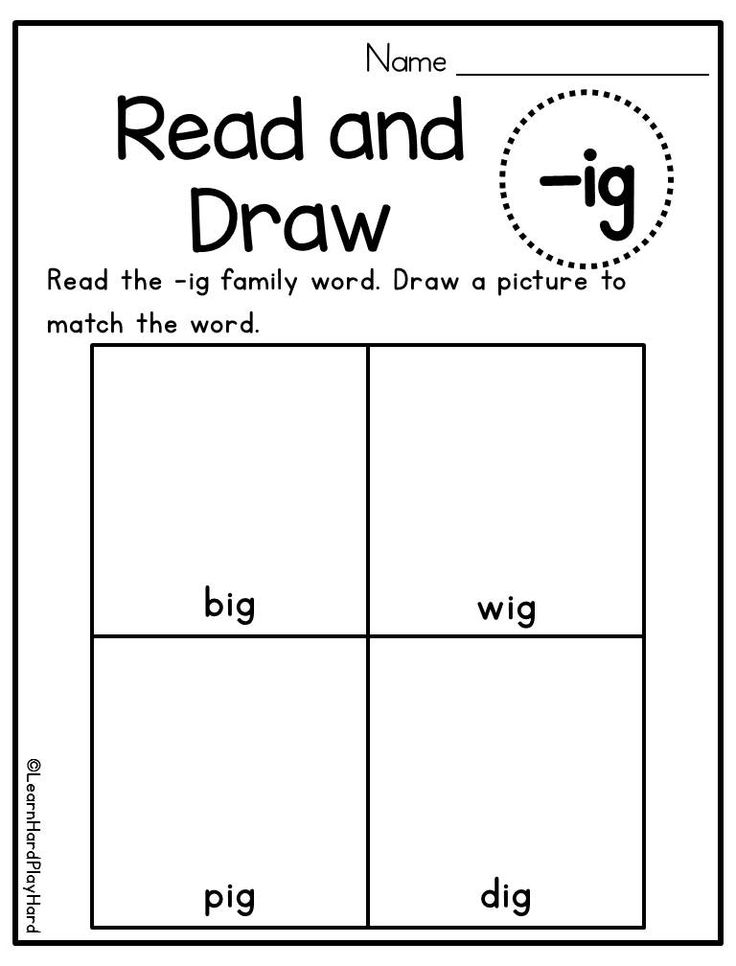 Short I Word Family Read and Draw Activity- A great way to practice short I word families while also instilling a knowledge of vocabulary! Kids read the short I word family word and then draw a picture to show the meaning. Available as a set for multiple short I word families and a second set for long I. From Learn Hard Play Hard