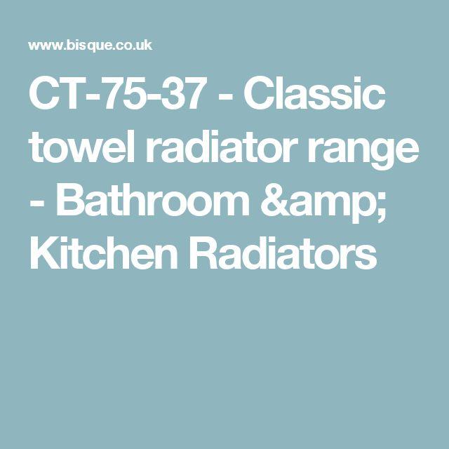 CT-75-37 - Classic towel radiator range - Bathroom & Kitchen Radiators