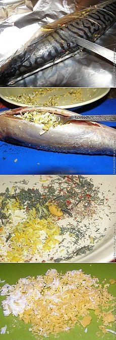 Скумбрия, запеченная в фольге рецепт тут: http://yourecept.ru/blog/43160888559/Skumbriya,-zapechennaya-v-folge