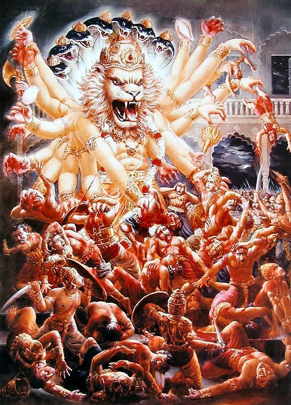 Narasimha | ... God incarnation: Narasimha Chaturdashi (24th May) | ISKCON Pune's Blog