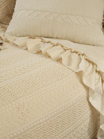 Ralph Lauren Home Alcott Knit Bed Blanket  Style # 11113077   90x90