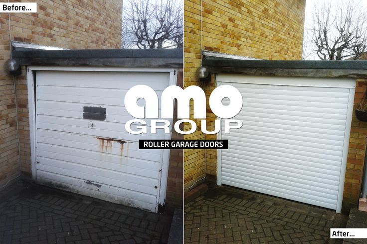 Take a look at this Roller Garage Door, Installed locally this morning at a property in Liversedge.  #roller #garage #door #before #after #liversedge #Installation