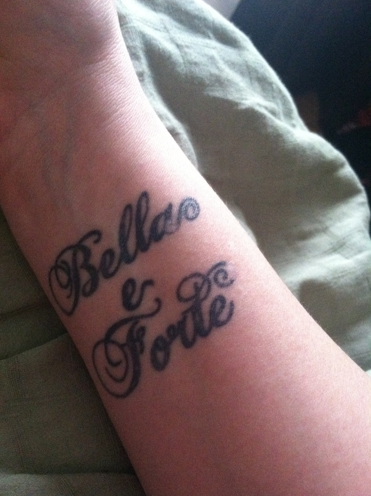 Wrist tattoo beautiful and strong in italian want this for Back of wrist tattoo