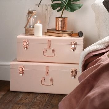 2 piece storage trunk set