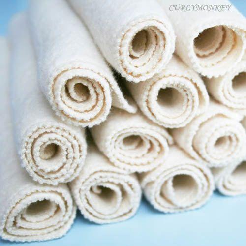 organic baby wipes cloth diaper wipes eco-friendly washcloth:  18 pk hemp organic cotton fleece