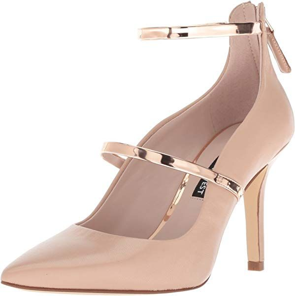 860a5e62e2424 Amazon.com | Nine West Women's MAYHALINA Leather Pump, Light Natural ...