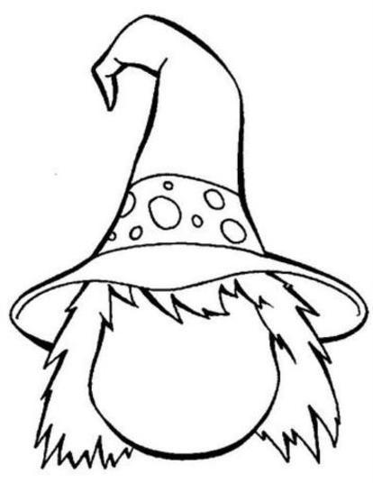 Il Volto Di Una Ragazza Strega Disegno Da Colorare Halloween