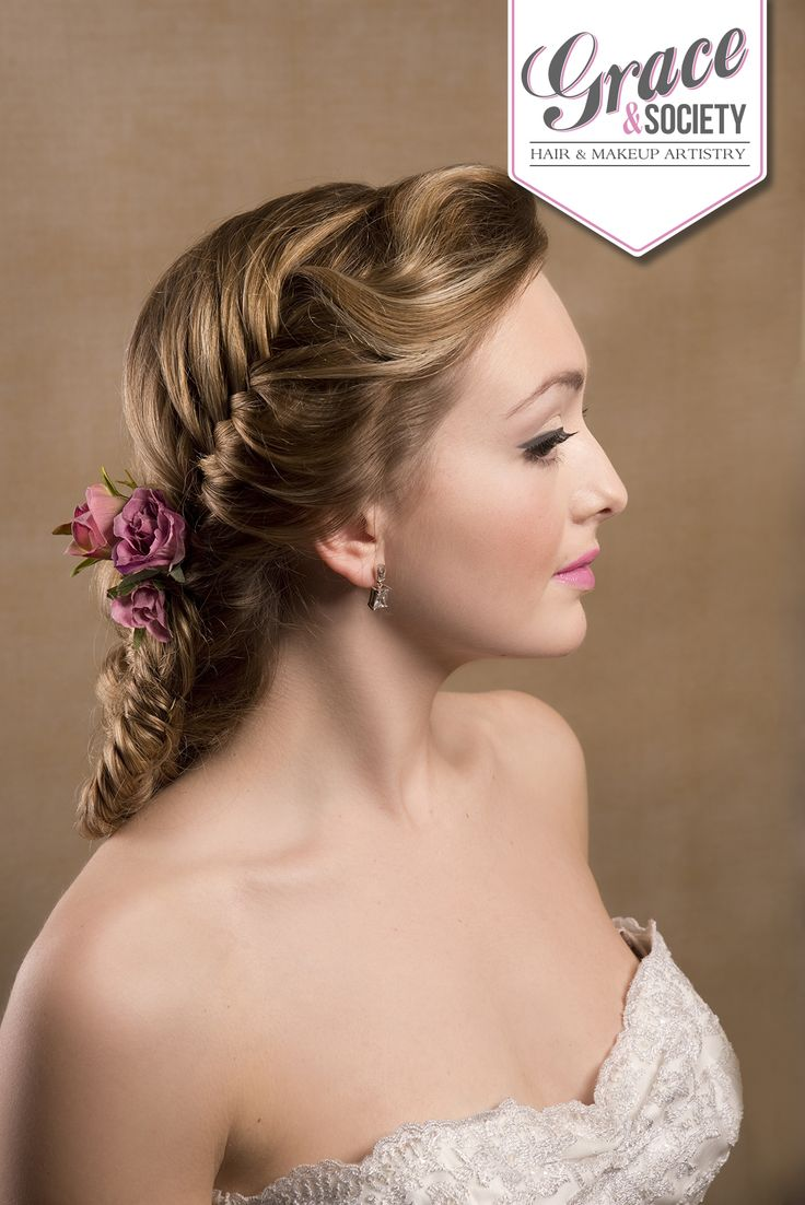 Fishtail twist on the classic French braid worn on the side