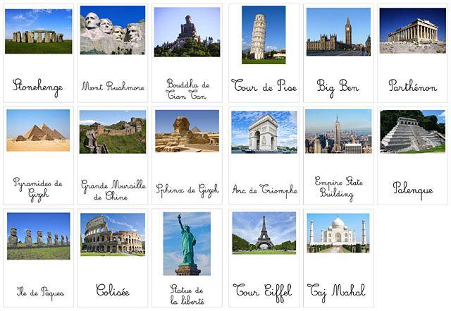 Géographie : lieux et monuments du monde (+printables) | Add fun and mix