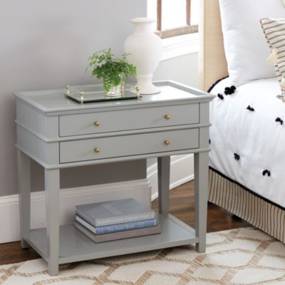 With its European allure, our Isabella collection transforms the bedroom into a romantic retreat. The Isabella Large Nightstand with Charging Station has a pullout drawer with 3-plug extension.
