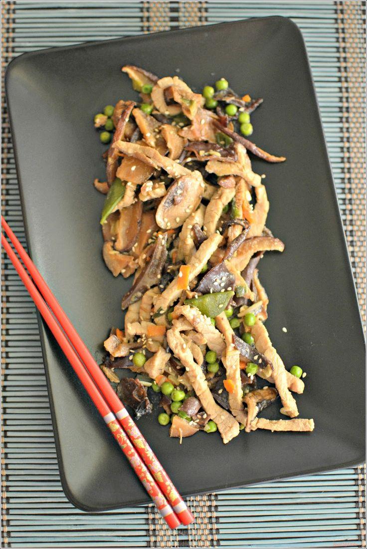 Sweet my Kitchen: Stir-fry de porco e cogumelos teriyaki