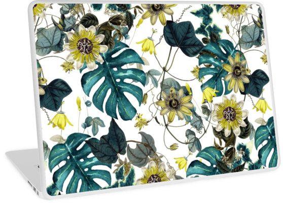 Laptop Skins Tropical Flowers by talipmemis