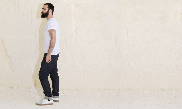 "Modèle ADN30-900 ""Indigo""  Toile Indigo Selvedge stretch 11 Oz  #denim #selvedge #jeans #madeinFrance  photo by Anais Boileau and model Thomas Berard for @ateliersdenimes"